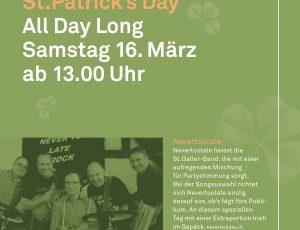Wir spielen euch in den St. Patrick's Day!